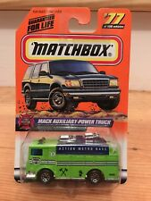 VHTF! 1999 Matchbox #77 Fire Rescue MACK AUXILIARY-POWER TRUCK DIE-CAST NIP