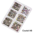 28 Box Mixed Size Glass Nail Art Rhinestones Flatback AB Crystal 3D Gem Manicure