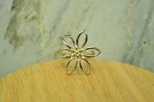 925 STERLING SILVER BIG CUT OUT DAISY FLOWER RING SIZE 6.75 #25108