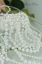 4 sizes+4 strings White Pearl Garland for Wedding/Bridal/Corsages/Decorations