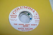 Pop Promo 45 Kitty Kallen - The Door That Won'T Open / If I Give My Heart To You