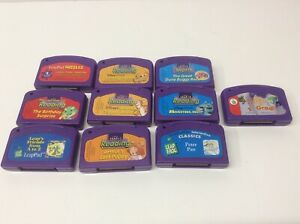 LeapFrog LeapPad Lot of 10 Games Cartridges Only - Finding Nemo, Monsters, Inc.