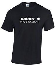 DUCATI PERFORMANCE Motobike/Biker T Shirt. Free Postage. Sizes S - 5XL