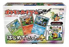 Nintendo DS Pokemon Jeu de Cartes Noir et Blanc Hajimete Ensemble Plus F/S W/