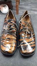 mens disco pimp shoes tigerprint stripe size 11 - 12