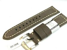 ALFA Sports 22mm quality Euro leather watch band suede finish fit Citizen