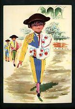 Embroidered clothing postcard Spain Artist Signed Moreno boy matador