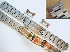 20mm Flip-Lock Steel Oyster Bracelet Band For Mens Old Rolex Submariner Watch