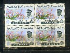 Malaya Malaysia 1965 Orchid Definitive 10c Johor Block 4