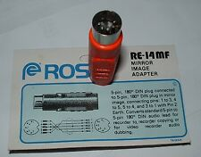 5 pin 180' DIN mirror image adaptor Ross RE-14MF crossover connector
