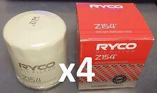 RYCO Z154 x4 BULK Oil Filters for Holden Commodore V6 3.8L VN VP VR VS VT VX VY