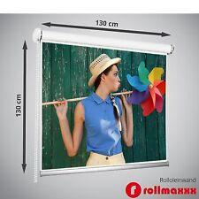 130 x 130 cm Rolleinwand Beamerleinwand Beamer Heimkino Projektionsleinwand
