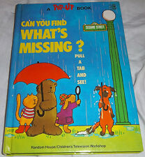 Can You Find What's Missing? Sesame Street Pop-Up Book 1974 Vintage Random House