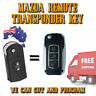 Mazda Complete Remote Key To Suit: 2 – 3 – 6 – CX7 – CX9 – BT50 – RX8 - MPV -NEW