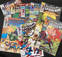 Peter Parker the Spectacular Spider-Man Mid-Grade Marvel Comics Lot of 8