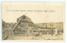 RPPC BOONE IA after Tornado C&NW Railroad Depot Roundhouse! Real Photo Postcard