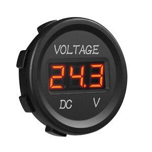 Universal 12V LED Display Digital Voltmeter Voltage Gauge for Car Truck UTV ATV