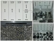 615 PIECE ASSORTED STAINLESS STEEL SCREWS & RETAINER RINGS TRIM MOULDING AUTO RV