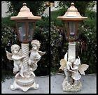 2Pk Outdoor Garden Decor Solar Fairy Angel/Cherub Statue Sculpture LED Lights