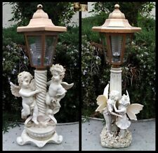 2Pk Outdoor Garden Decor Solar Fairy Angel/Cherub Statue Sculpture Led Lights