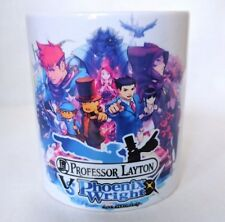 Professor Layton VS Phoenix Wright Ace Attorney - Coffee MUG CUP - Nintendo