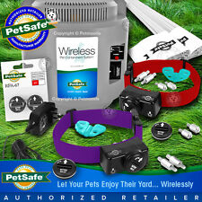 PetSafe PIF-300 Wireless Pet Dog Fence System 2-Dogs PIF-275 Purple 4 Batteries