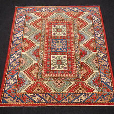 Orient Teppich Kazak 218 x 175 cm Rot Blau Kasak Red Blue Carpet Rug Tappeto
