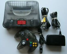 Nintendo 64 N64 Smoke Grey Clear Black Console System Funtastic Expansion Lot #1