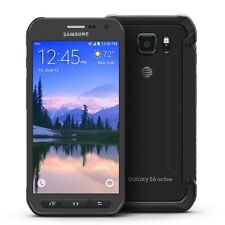 Samsung Galaxy S6 Active G890A 32GB Gray AT&T Unlocked Crack Cam+Digi Image Burn
