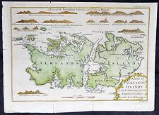 1770 Gentlemans Magazine Antique Map & Views of  The Falkland Islands