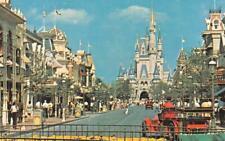 WALT DISNEY WORLD Main Street USA Cinderella Castle c1970s Vintage Postcard