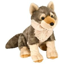 "12"" Wolf Soft Toy Animal - Wild Republic Cuddlekins 30cm Europe"