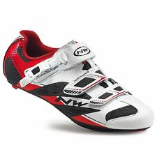 Northwave Sonic 2 SRS Road Bike Shoes, White/Red, 43.5