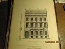 Planche Hôtel Avenue Louise à Bruxelles - Façade 1892