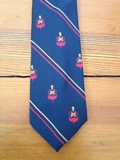 Vtg Industrial College of the Armed Forces Crest Pattern Wembley Skinny Tie USA