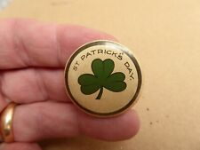 1920s AUSTRALIAN ST.PATRICK'S DAY  CLOVER   BUTTON DAY BADGE