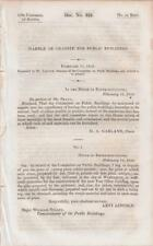 1839 House of Reps Correspondence on Marble Or Granite for Public Buildings