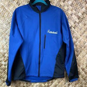 Didoo Mens Medium Wind Resistant Black Blue Cycling Jacket.