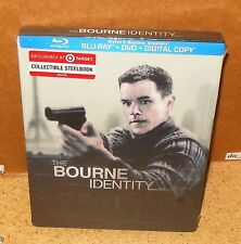 BOURNE IDENTITY STEELBOOK (2012 Blu-Ray + DVD) NEW and SEALED