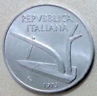 MONETE REPUBBLICA ITALIANA 10 LIRE SPIGA 1973 - FDC DA ROTOLINO