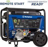 Westinghouse Portable Generator 9500/7500 Gasoline Powered Wireless Remote Start
