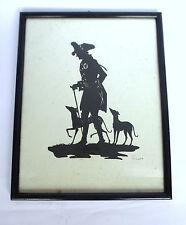 Alter Fritz Scherenschnitt um 1900 Silhouette signiert Lotte Gützlaff B-1251