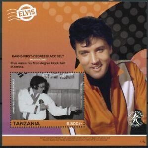 Tanzania 2017 MNH Elvis Presley His Life in Stamps Celebrities Music 1v S/S III
