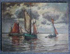 altes Ölbild auf Leinwand, ca. 60x80 cm, Nachlass aus Familienbesitz