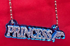 Name Plate Custom Name Necklace Nameplate LaserCut Diamond Look Any Name Or Word