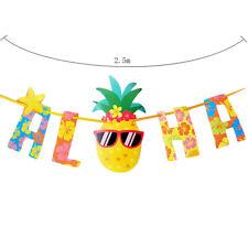 Hawaiian Tropical Pineapple Summer ALOHA Party Banner Garland Bunting Home Decor