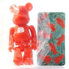 "Medicom Bearbrick Be@rbrick 3"" Series 3 Basic Big B Red Rare Art Figure 2002"
