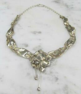 """Unique Handmade Sterling Silver Necklace ~ 18"""" ~ 43grams ~ 3-B223"""