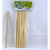 BAMBOO CHOPSTICKS 21CM PACK OF 10 BIRTHDAY WEDDING PARTY SUPPLIES ECO FRIENDLY