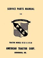 American Tractor  Model GT 25 & 30 Tractor Parts Manual